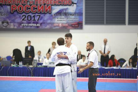 Чемпионат России по Киокусинкай каратэ 2017-urakenru тамэшивари 75
