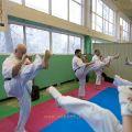 Боевая тренировка киокусинкай в Лицее 9 города Волгограда 27