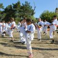 Общая тренировка карате шинкиокушин уракен на Мамаевом Кургане 16