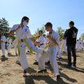 Общая тренировка карате шинкиокушин уракен на Мамаевом Кургане 40