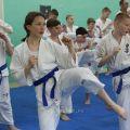 Экзамен на пояс карате киокусинкай в лицее 9 Волгограда 20