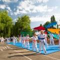 Показательные выступления каратистов Федерации Уракен Карате на открытии НОВОЙ спортивной площадки Лицея 9 12