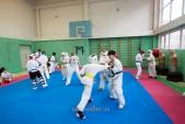 Боевая тренировка киокусинкай в Лицее 9 города Волгограда (рис.5)