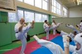 Боевая тренировка киокусинкай в Лицее 9 города Волгограда (рис.8)