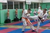 Совместная тренировка с каратистами из клуба Дзаншин в лицее 9